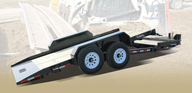 CAM 2019 7-TON 8.5' X 19' SPLIT TILT LOW PROFILE EXTRA WIDE UTILITY TRAILER