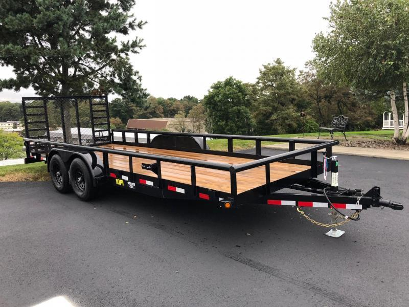Big Tex 2019  7 x 20' Pro Series Tandem Axle Pipe Top Utility / Landscape Trailer