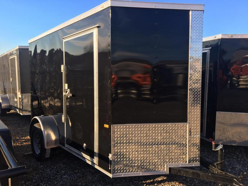 DIAMOND CARGO 2019 6' x 10' SINGLE AXLE BLACK ENCLOSED TRAILER