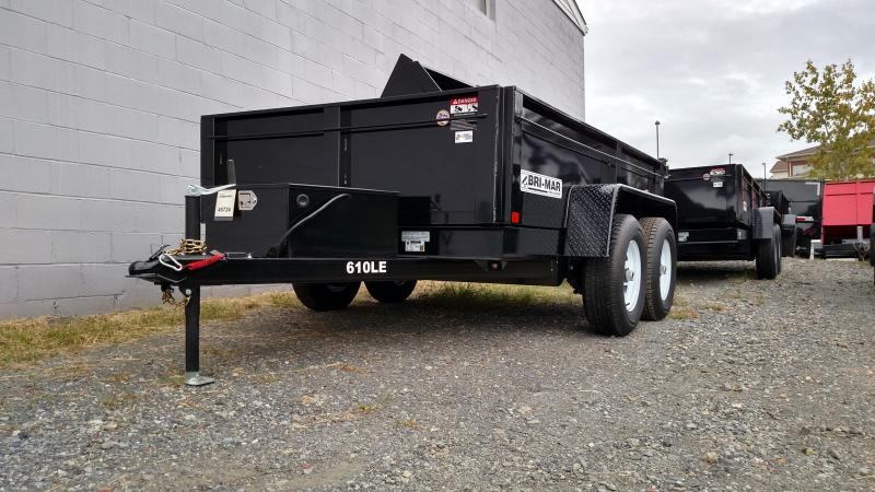 BRI-MAR 2018 6' x 10' LOW PROFILE DUMP TRAILER
