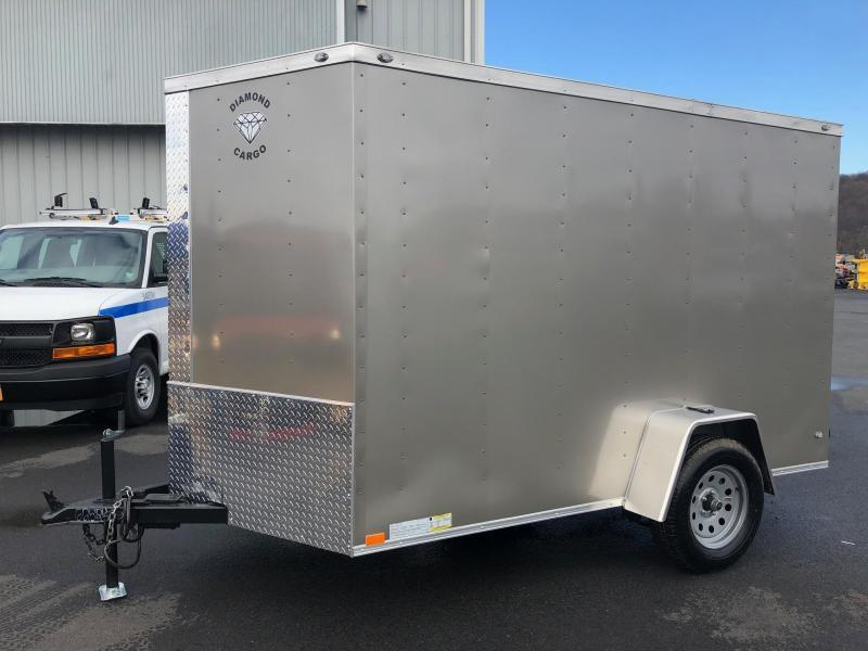 DIAMOND CARGO 2019 6' x 10' SINGLE AXLE PEWTER ENCLOSED TRAILER