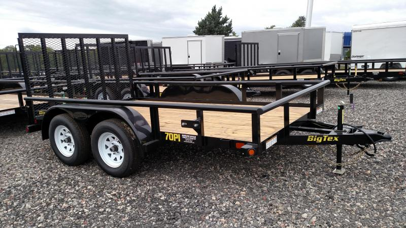 BIGTEX 2017 70PI 12' TANDEM AXLE LANDSCAPE / UTILITY TRAILER. PLEASE ASK FOR BILL
