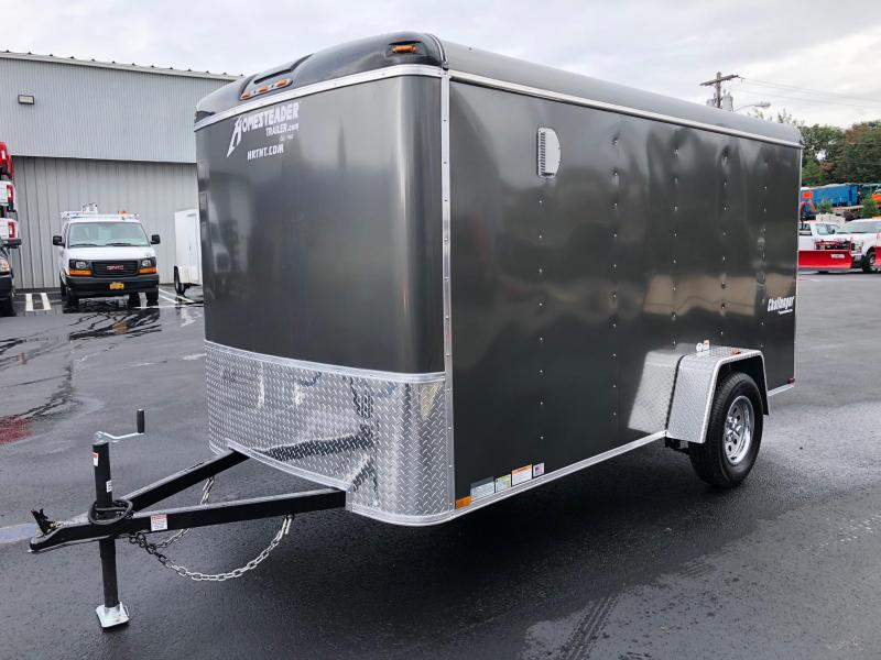 "HOMESTEADER 2019 6' x 12' GRAY CHALLENGER ENCLOSED TRAILER W/6"" EXTRA HEIGHT"