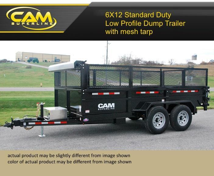 Cam Superline 6 X 12 Standard Duty Low Profile Dump Trailer