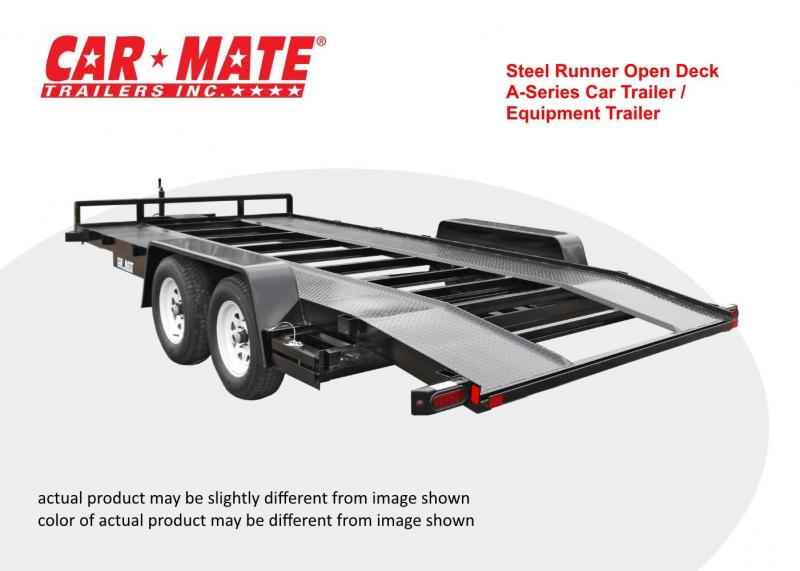 Car Mate 8 X 16 Steel Runner Open Deck A-Series Car Trailer