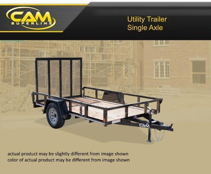 2019 Cam Superline STP7210TA-B-030 Utility Trailer