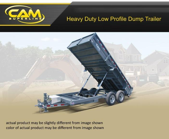 2018 Cam Superline 6 X 14 Heavey Duty Low Profile Dump Trailer