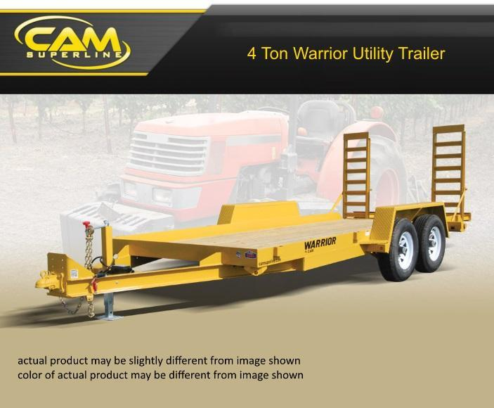2019 Cam Superline 8.5 X 18 4 Ton Warrior Utility Trailer