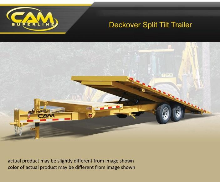 Cam Superline 24 FT Deckover Split Tilt Trailer