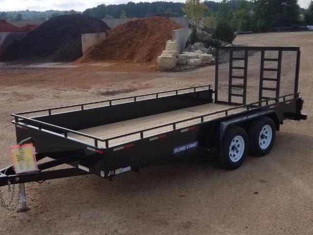 2017 Sure-Trac 7 x 16 Steel High Side 7k Tandem