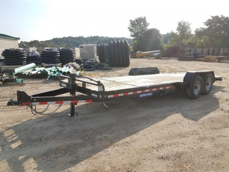 2007 Sure-Trac 14k Tlitbed Equipment Trailer