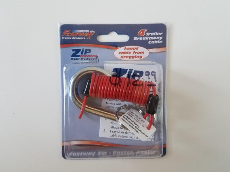 4' Zip Breakaway Cable