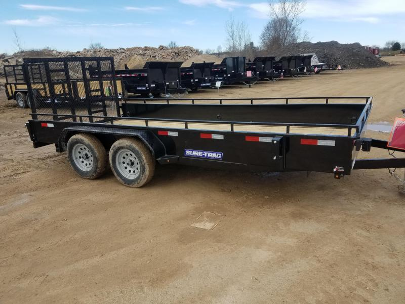 2019 Sure-Trac 7 x 16 Steel High Side  7K Tandem