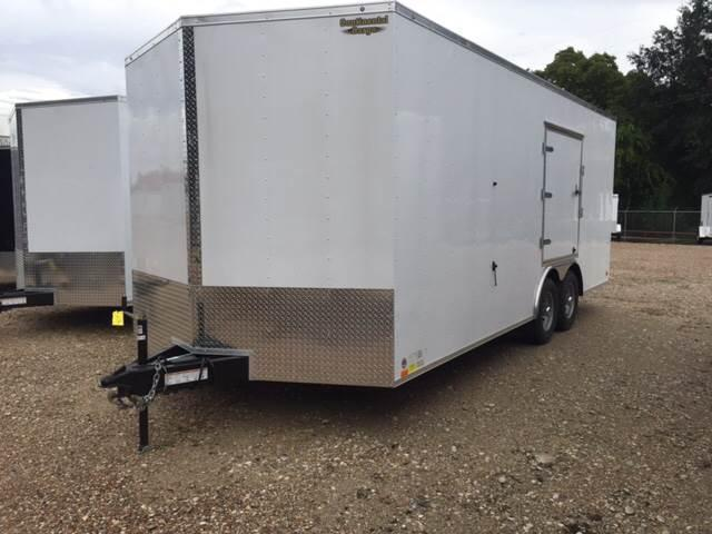 2017 Continental Cargo 8.5 X 20 TRAILER TANDEM AXLE ENCLOSED CAR HAULER W/ EXTRA HEIGHT