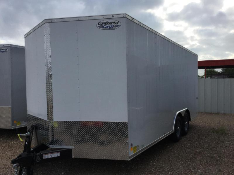 2018 Continental Cargo 8.5 X 18 TRAILER ENCLOSED TANDEM AXLE Car / Racing Trailer