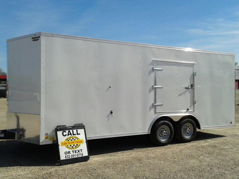 2017 Continental Cargo 8.5 X 20 TRAILER TANDEM AXLE Car / Racing Trailer