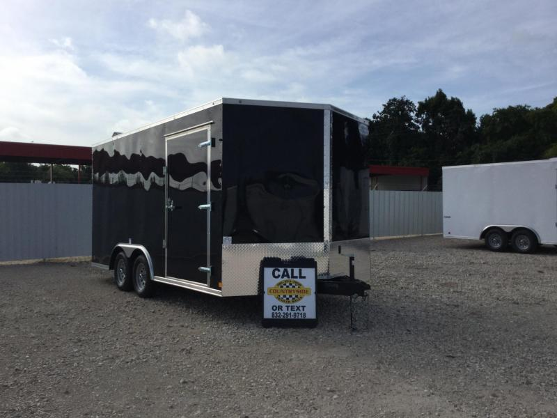 2018 Continental Cargo 8.5 X 16 TRAILER TANDEM AXLE ENCLOSED Car / Racing Trailer