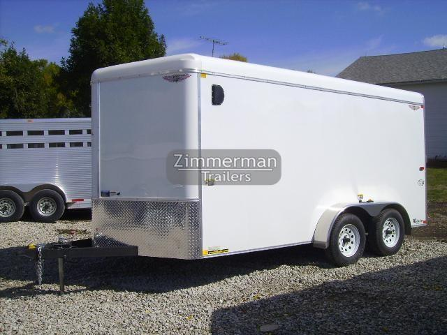2017 H and H Trailer 8x16 V-Nose Enclosed Cargo Trailer