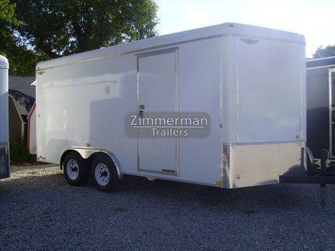 2017 H and H Trailer 7x16 V-Nose Enclosed Cargo Trailer