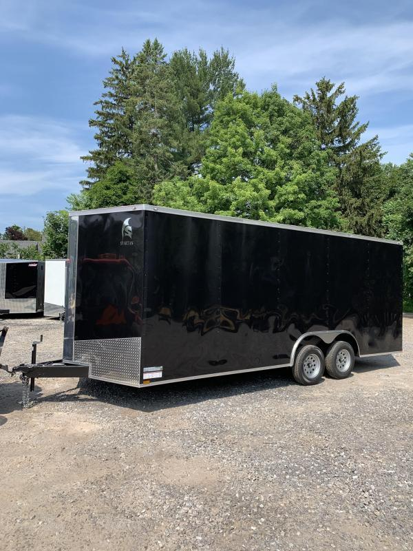 "2019 Spartan 8.5x20 +2ft v-nose Trailer-12"" extra height"