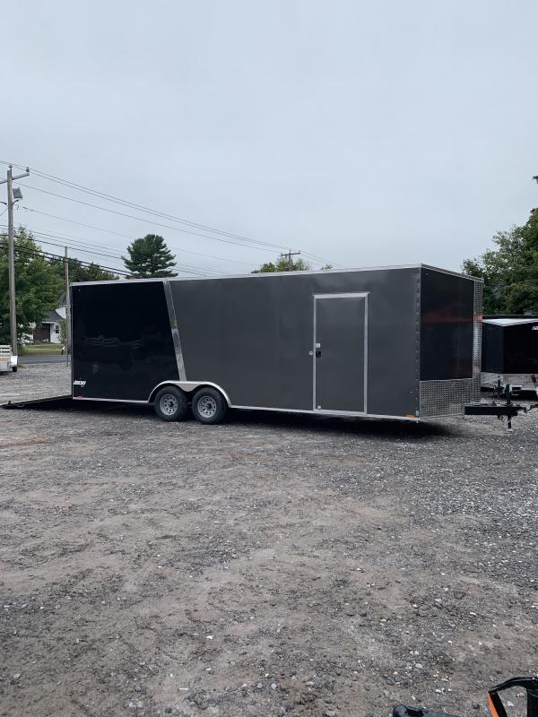 "2020 PACE 8.5x24 +2ft v-nose Trailer-18"" extra height/undercoated"