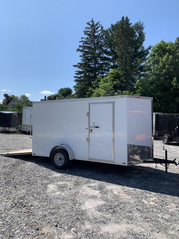 2019 Spartan 6x12 +2ft V nose trailer ramp door/Extra Height