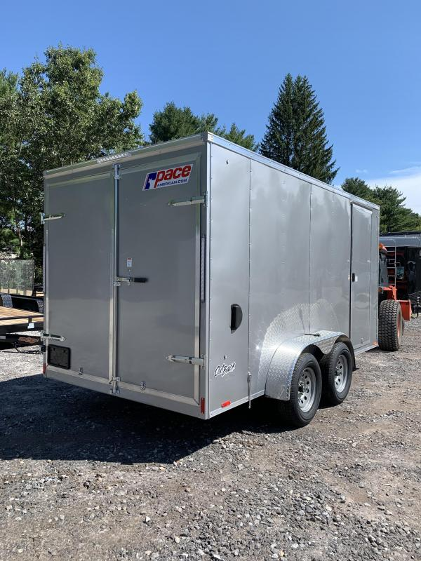 "2020 PACE 7X14 +2ft V trailer double doors/6"" extra height"