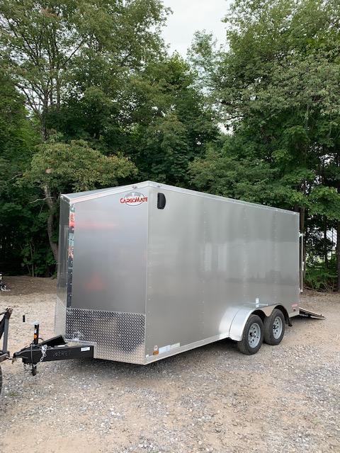 2019 Cargo Mate 7X16 +2ft V trailer ramp door/extra height *Scratch/Dent