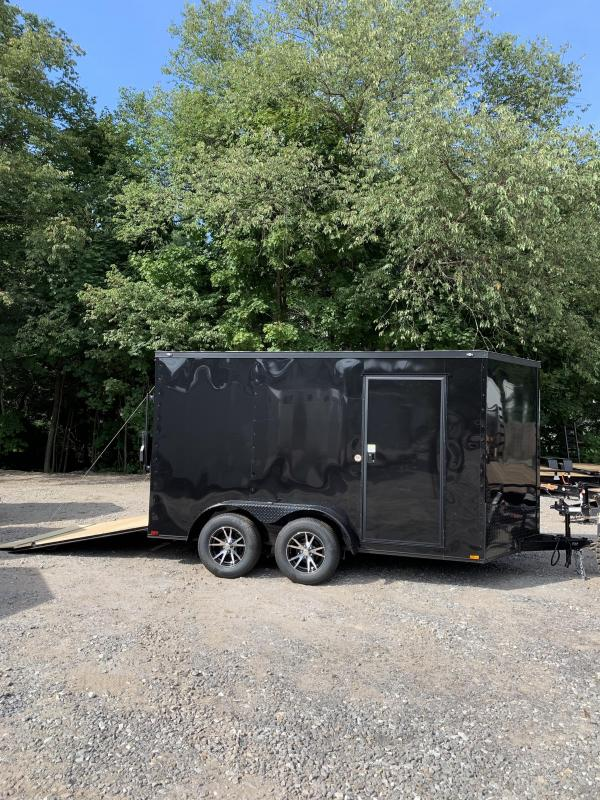"New Spartan 7X12 +2ft V trailer Blackout /6"" extra height"