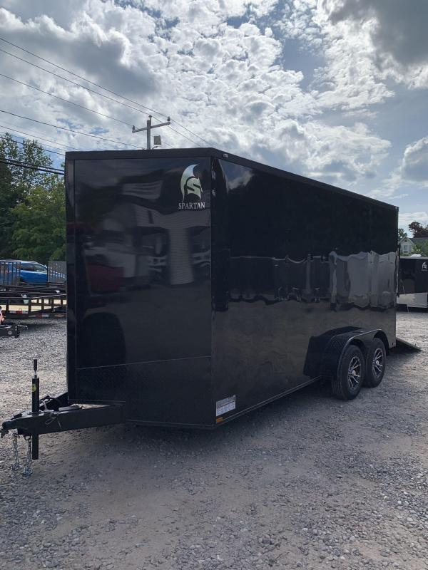 "2019 Spartan 7X16 +2ft V trailer Blackout /12"" extra height"