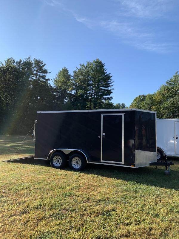 "New Spartan 7X14 +2ft V trailer ramp door/6"" extra height"