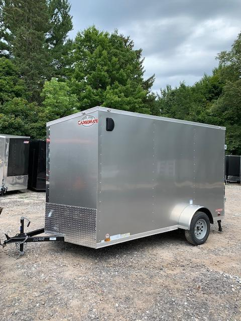"2019 cargo mate 6.5x12 +2ft V nose trailer ramp door/12"" Extra Height"