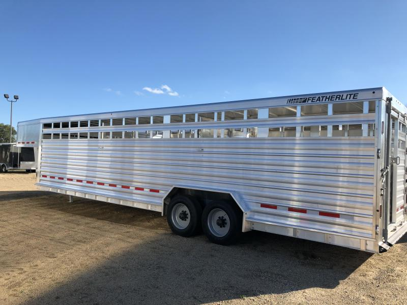 2018 Featherlite 30' Stock Trailer