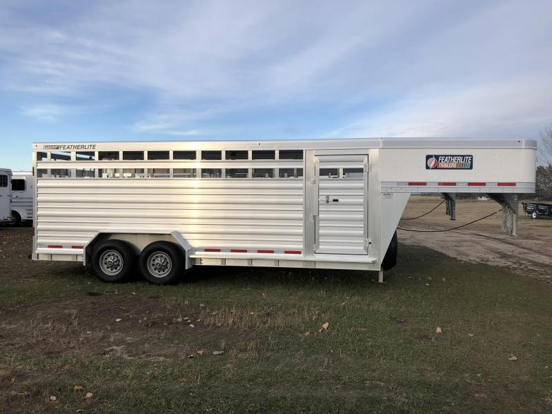 2017 Featherlite 8127 20' Stock Trailer