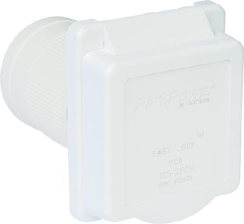 Standard RV Inlet 50A White