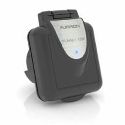 Furrion 30 Amp Standard Square Inlet - Black