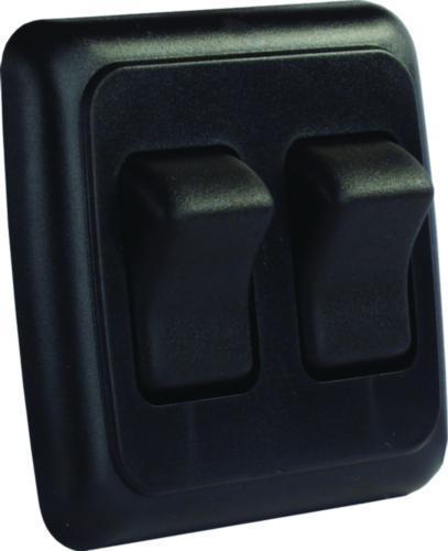 Double RV Rocker Switch Assembly with Bezel