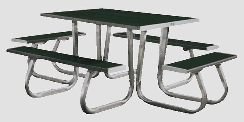 4X4 PICNIC TABLE GREEN