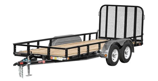 2019 PJ Trailers 72 in. Tandem Axle Channel Utility (UJ) Utility Trailer