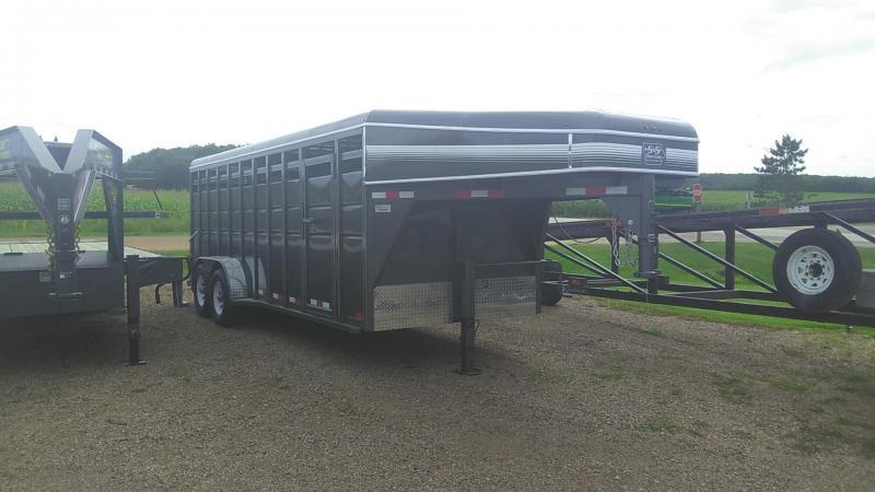2020 S & S Dura-Line 20' 14k Gooseneck Cattle Trailer Livestock Trailer