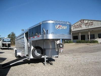 2015 Exiss 24' STOCK W/LOAD RAMP Stock / Stock Combo Trailer