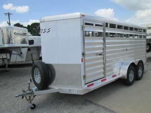 2015 Exiss 16 Stock Bumper Pull Stock / Stock Combo Trailer