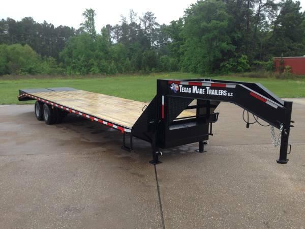 2015 Texas Made  8.5'x27+5  Flatbed Deck Over Flatbed Trailer