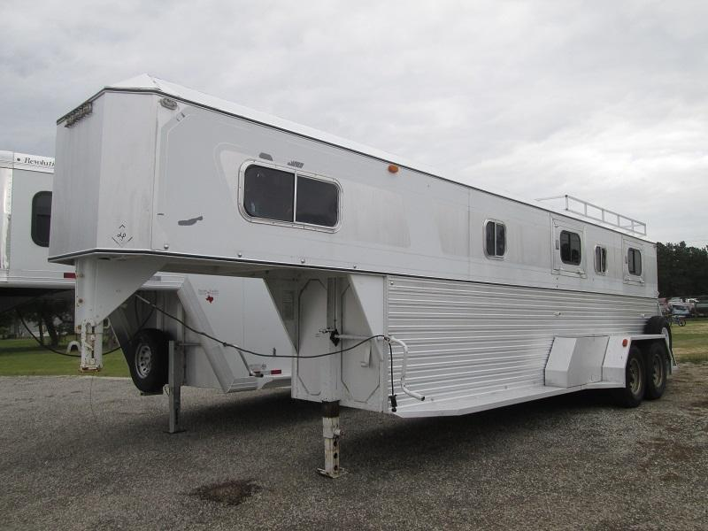 1980 Diamond Trailers 2H INLINE DOUBLE L Horse Trailer
