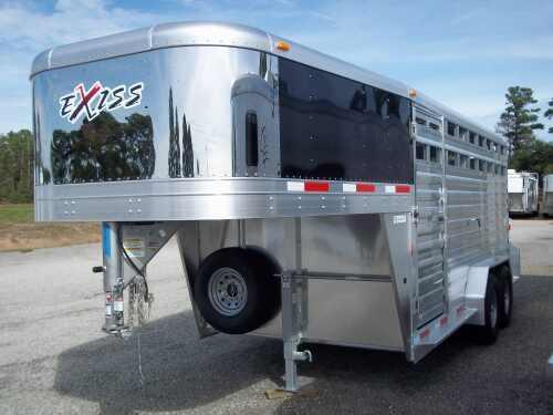 2014 Exiss 16 ft gooseneck stock trailer