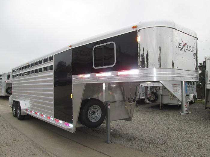 2016 Exiss 24 FT STOCK COMBO - 7 FT TALL Livestock Trailer