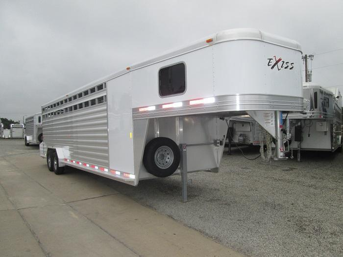 2016 Exiss 28 FT STOCK/COMBO 7 FT TALL Livestock Trailer