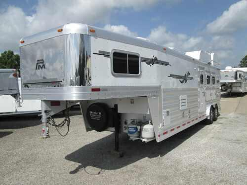 2009 Platinum Coach 3 Horse LQ/Outlaw Conversion Horse Trailer