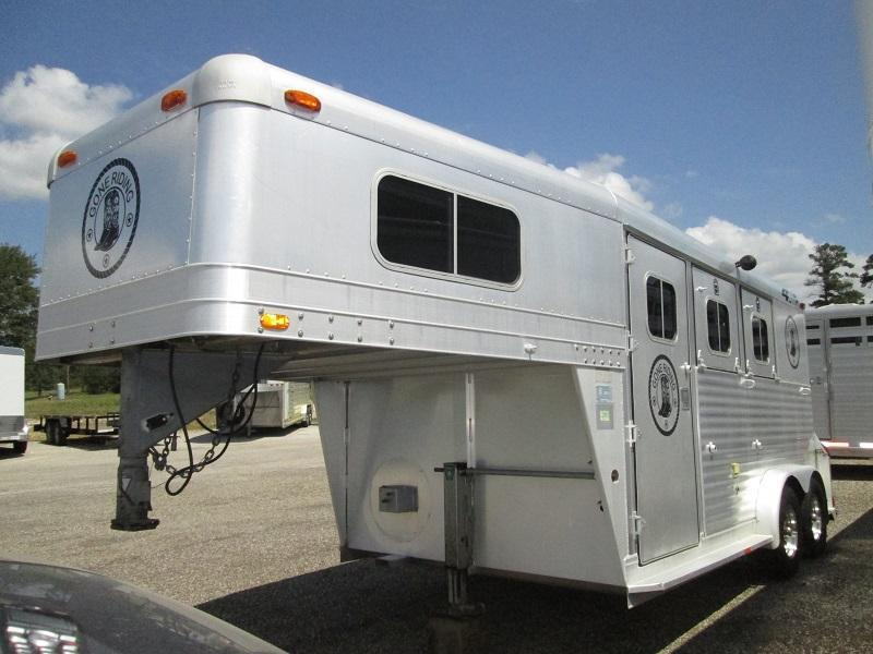 1998 4-Star Trailers 2H GN WEEKENDER Horse Trailer