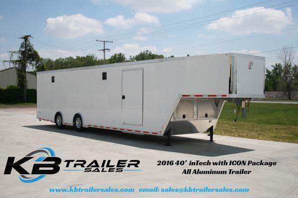2016 inTech Trailers 40 GN All Aluminum w/ICON Package